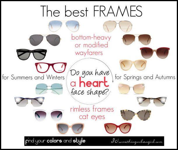 The best frames for heart face shape