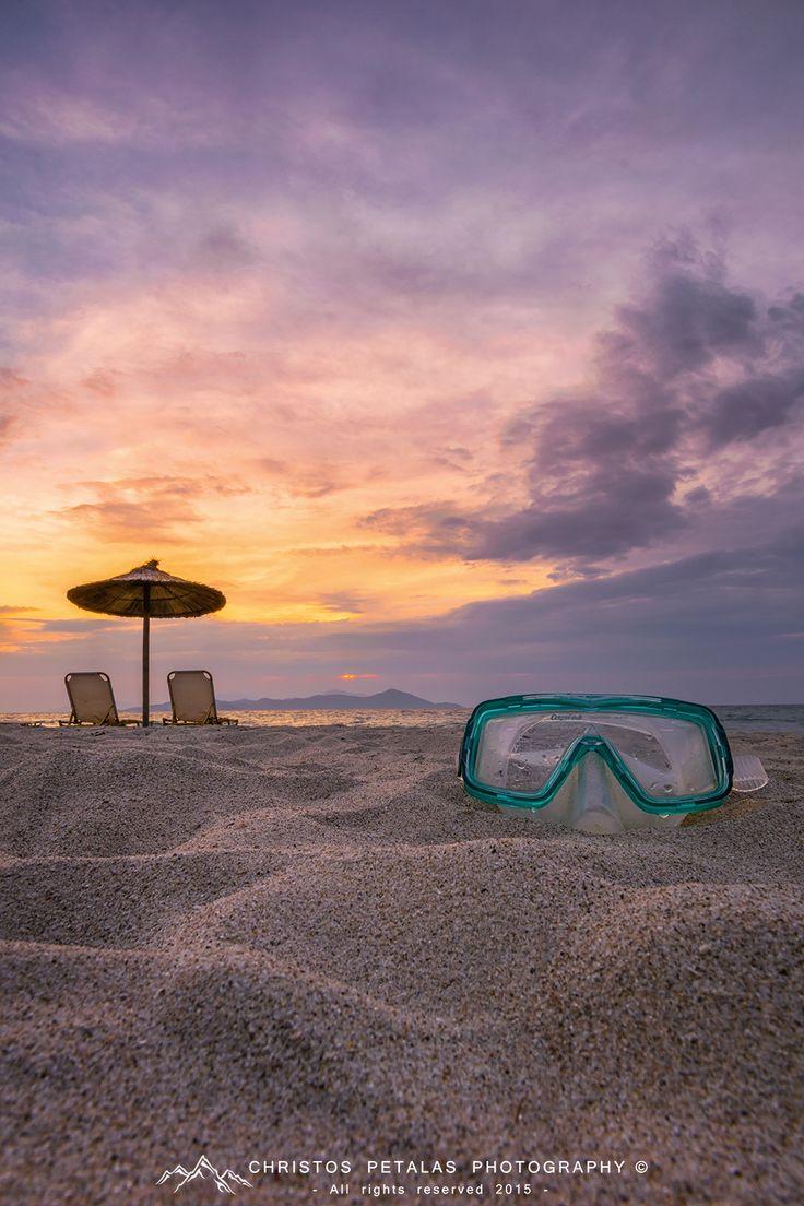 Sunset on beach by Christos Petalas on 500px