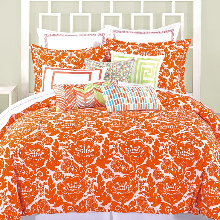 183 Best Orange Coral Yellow Bedroom Images On Pinterest: 25+ Best Ideas About Orange Bedding On Pinterest