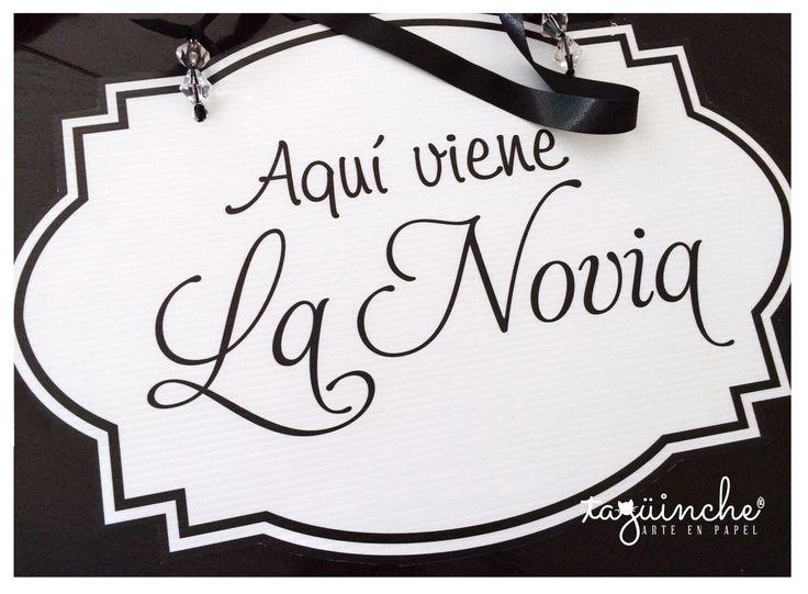 Letrero para paje, bodas www.taguinche.com