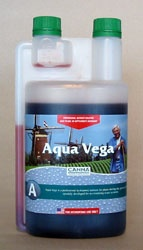 Canna Aqua Vega A 1 liter AQUA VEGA In the first phase of a plant's growth, the basis is laid for the subsequent bloom and the yields. A healthy and strong growth is characterized by vital growth shoots and luxuriant root development. AQUA VEGA has specially been developed to meet the plant's needs in this phase. #canadianwholesalehydroponics