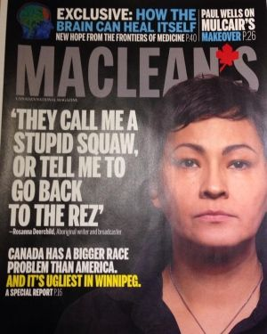 "WATCH: Rosanna Deerchild reacts to Maclean's racism article after appearing on cover |""I am far from the angry Indian complaining about being hard done by,"" Deerchild said. #racism #FNIM"