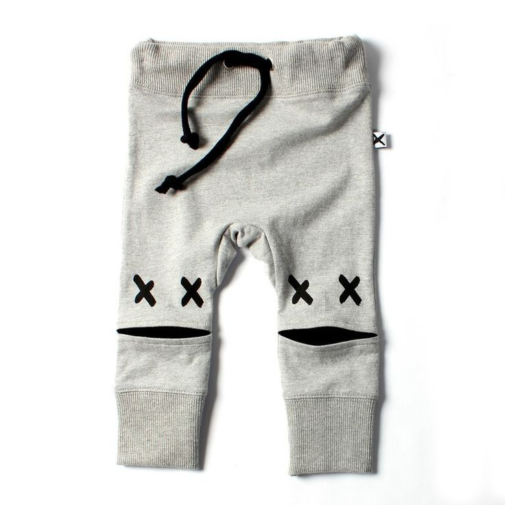 Minti Baby Cross Eyed Trackie Grey - Newborn - CLOTHING :: Big Dreams