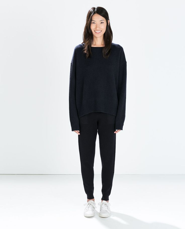 image 1 of ribbed knit trousers from zara w pinterest. Black Bedroom Furniture Sets. Home Design Ideas