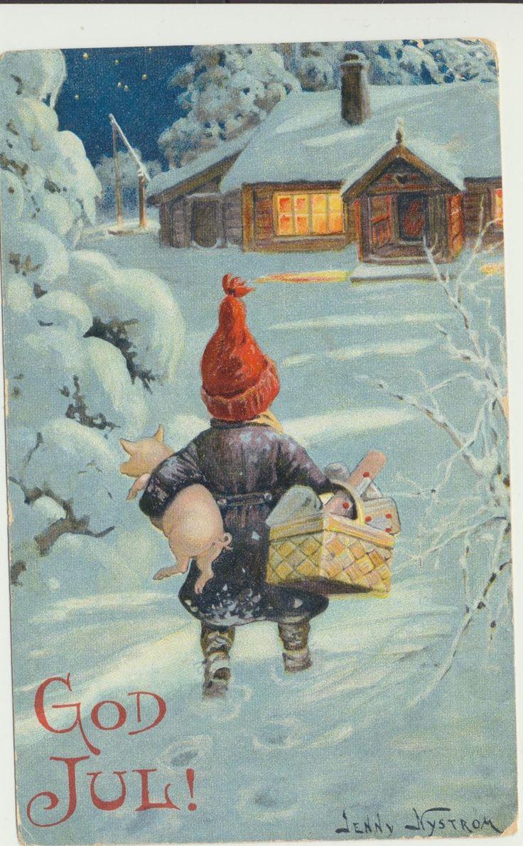 Открытка с швецким рождеством