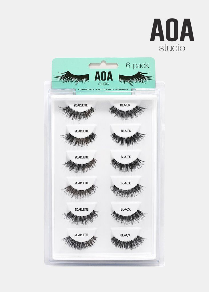 9e3f10f8f36 AOA Studio Eyelashes - Scarlette 6-Pack in 2019 | Wishlist: Miss A |  Eyelashes, Fake lashes, Fake eyelashes