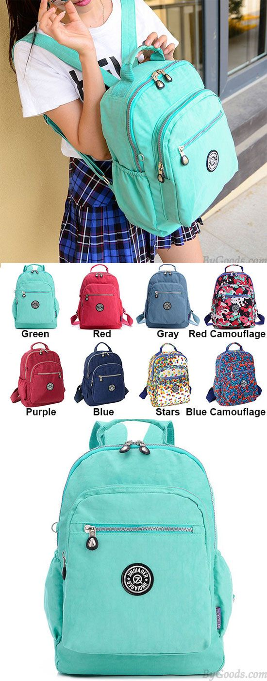 Which color do you like? Fashion Colorful Canvas Large Capacity Waterproof School Zipper Travel Backpacks #fashion #zipper #travel #school #large #capacity