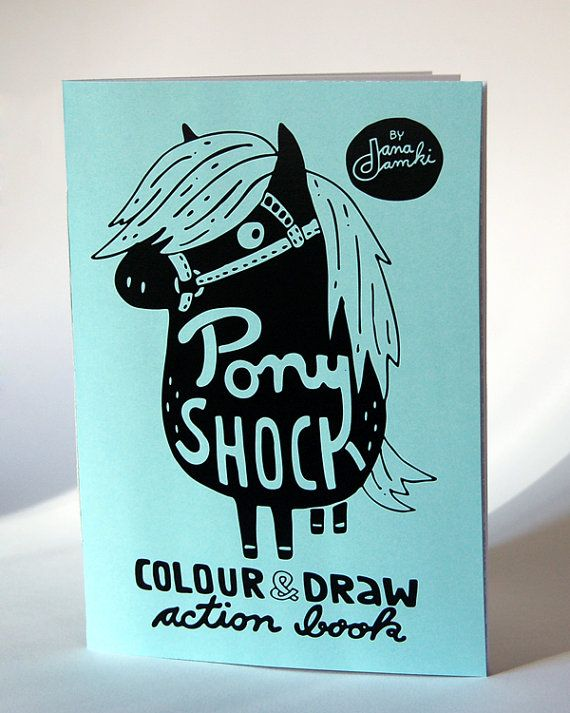 PONY SHOCK Colouring Book - by danadamki,  Colour & Draw Action - Book on Etsy, 30,26 zł