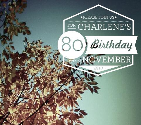 Grandma's 80th by Ashley Buerkett, via Behance
