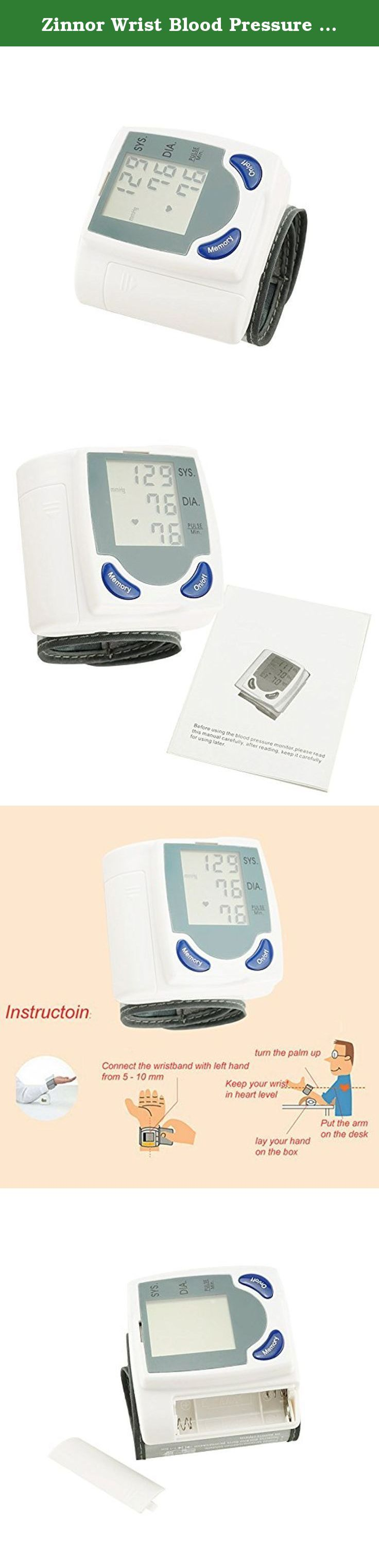 Zinnor Wrist Blood Pressure Digital Monitor Heart Beat Meter 60 Memory and Irregular Heartbeat Detector. Description: Specifications: ► Method: oscillographic determination method. ► Blood pressure: 0 ~ 280 mm (0 ~ 37.3 kPa) ► The pulse: 40 ~ 200 / Po. ► Pressure: the pressure pump pressure mode automatically. ► Pressure test: resistive pressure sensor. ► Power supply: 2 x 1.5V AAA batteries (not included) ► Automatic shutdown: 60 seconds. Package Include: 1 X Automatic Blood Pressure…
