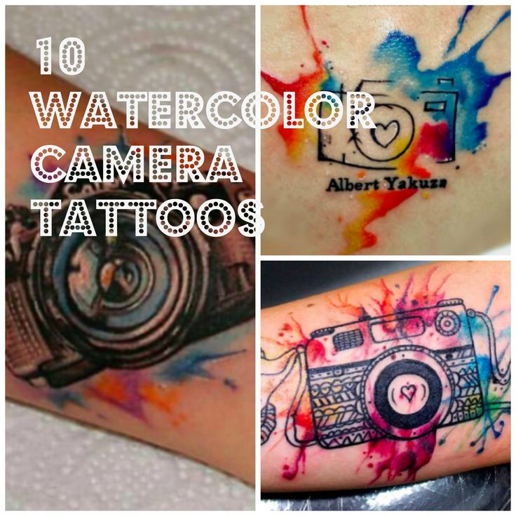 Watercolor tattoos are quickly gaining popularity! What I love more than cameras and photography, is art and tattoos! There are so many unique tattooists in the world, I truly envy their talent. These tattoos I have posted range from realistic to cartoony. Enjoy!