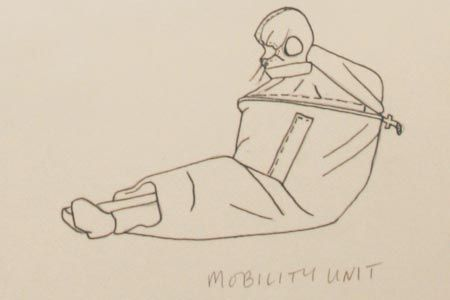 sketches of body architecture, by lucy orta