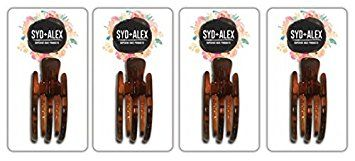 SYD & ALEX Superior Hair Products, Tortoise Skinny Claw Clip Value Pack, Small, 4 Piece Review