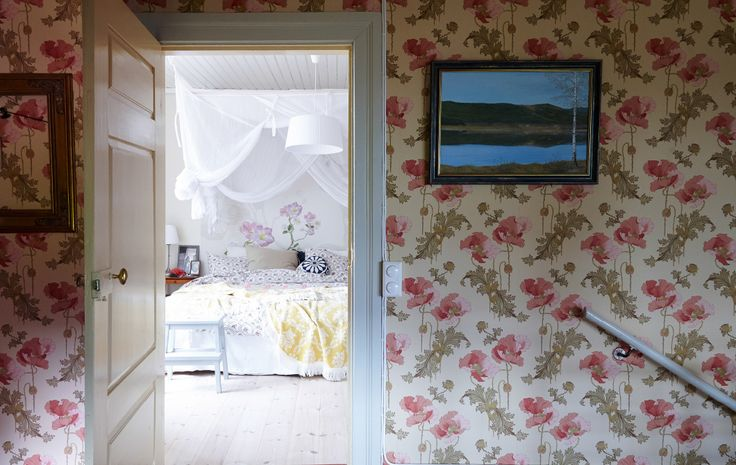 A makeshift four-poster can make a large room feel more snug - LOVE THIS I AM SO DOING!!!!