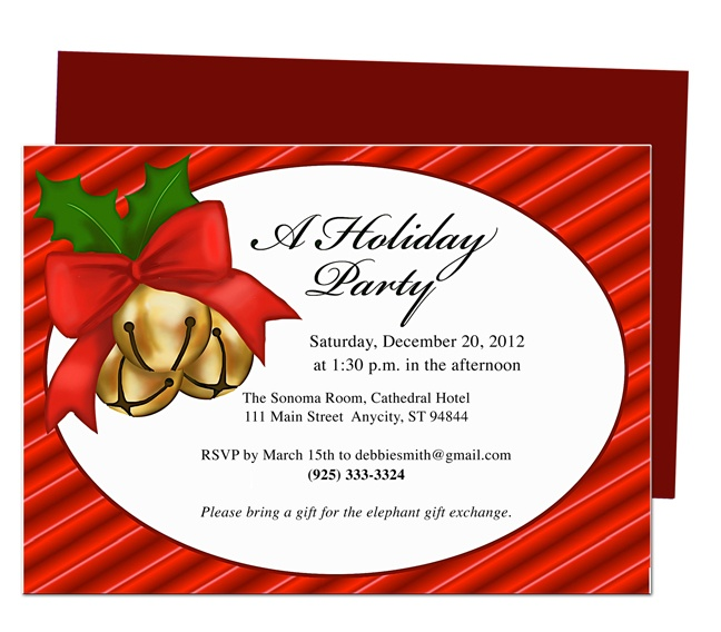 20 best diy christmas holiday party invitations and cards images party invitations jingle holiday party template solutioingenieria Gallery