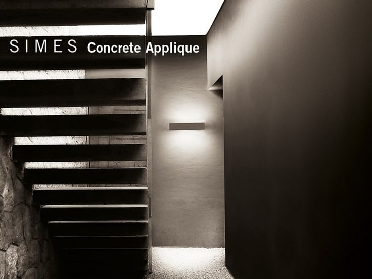 Download the catalogue and request prices of Concrete | wall light by Simes, led direct light wall light, Concrete collection