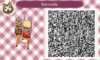 Animal Crossing QR Codes ❤ TILE#2 of 2<---- Desserts pathway tiles-marble cake, lemon-frosted chocolate cake, chocolate-frosted banana cake, and red velvet cake with vanilla frosting and some chocolate shavings