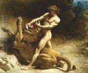 Samson's youth 1891  by Léon Bonnat