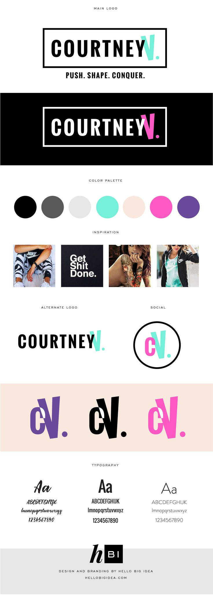 Brand Board and logo design for Courtney V. by Hello Big Idea