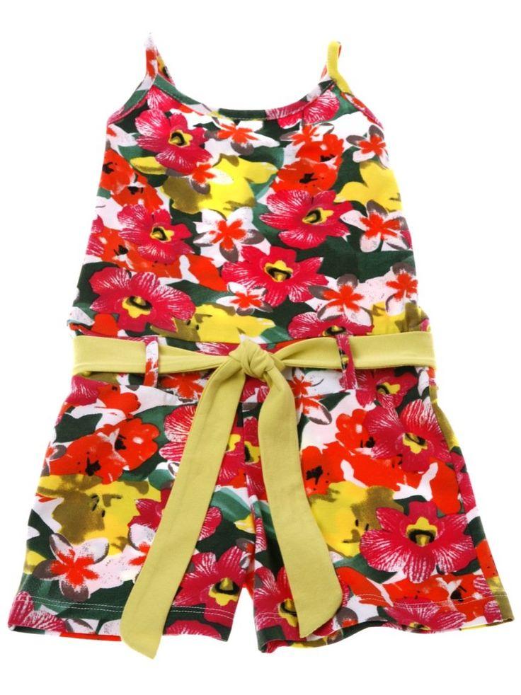 Εβίτα παιδική ολόσωμη φόρμα σορτς «Flower»  €12,00