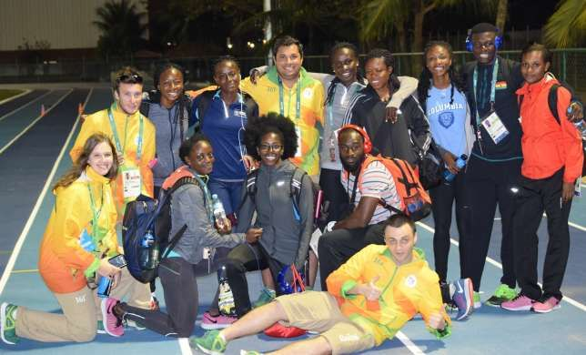 Ghana's Olympic team have started training in Rio upon their arrival in Brazil for the Olympic Games.