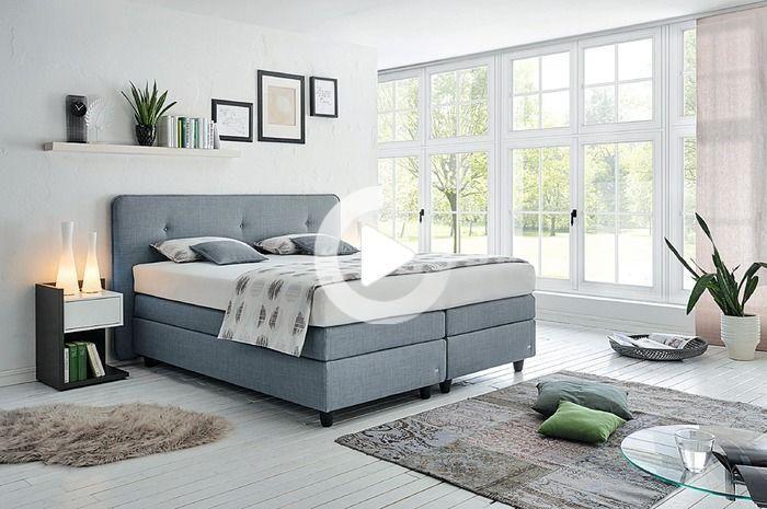 Ruf Lits Sommier Vitessa 180 X 200 Cm Tissu Gris Ruf Betten Wohnung Einrichten Online Mobel