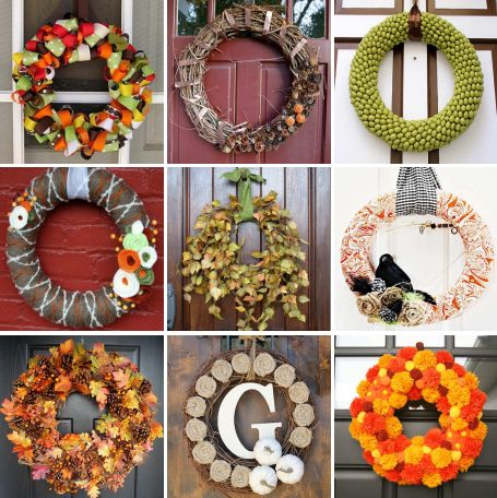 30 DIY fall wreaths... : Diy Crafts, Diy Wreaths, Front Doors, Fall Wreaths, Wreaths Ideas, 30 Diy, Diy Fall, Autumn Wreaths, Holidays Wreaths