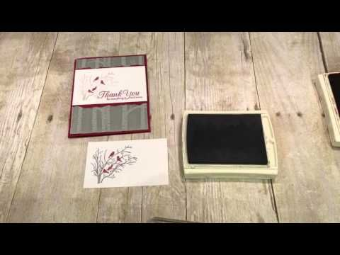 Another way to use the woodland embossing folder
