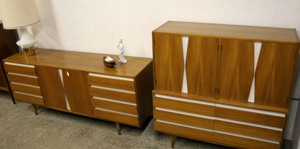 mid century king bedroom set offered for sale in my
