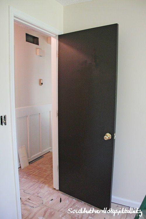 Dark brown interior doors
