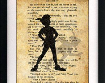 Peter Pan und Wendy Kinder fliegen Kunst buchen von circlewallart
