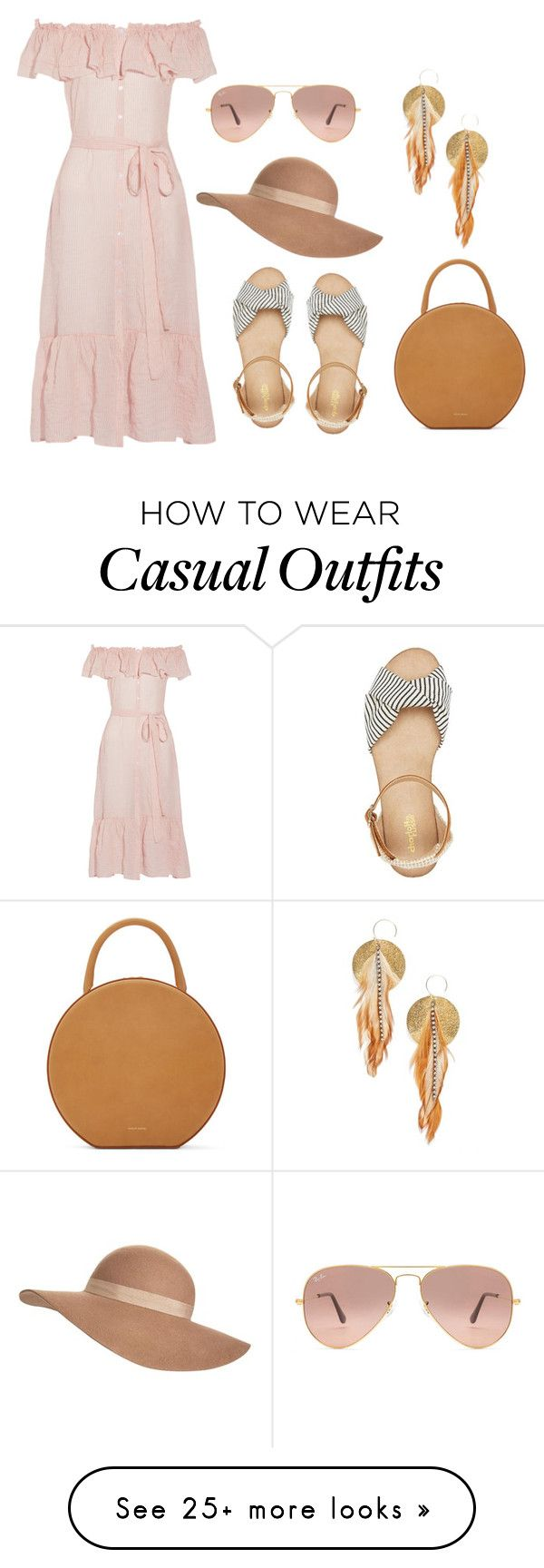 """""""casual look"""" by hodandahir on Polyvore featuring Lisa Marie Fernandez, Ray-Ban, Jack Wills, Mansur Gavriel, Charlotte Russe and Serefina"""