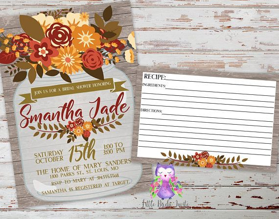 Fall Wedding Shower Invitations: Best 25+ Autumn Bridal Showers Ideas On Pinterest