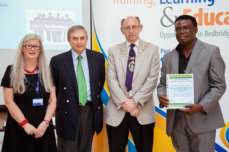 Tony Mofunanya was given a Volunteer award for this work as a Conversation Club leader