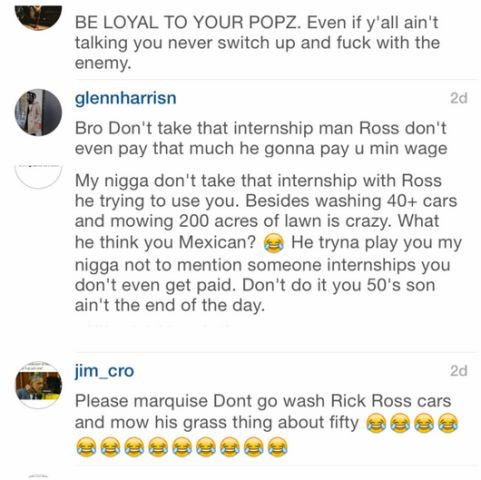 Are Fans Begging 50 Cents Son Not To Take The MMG Internship?