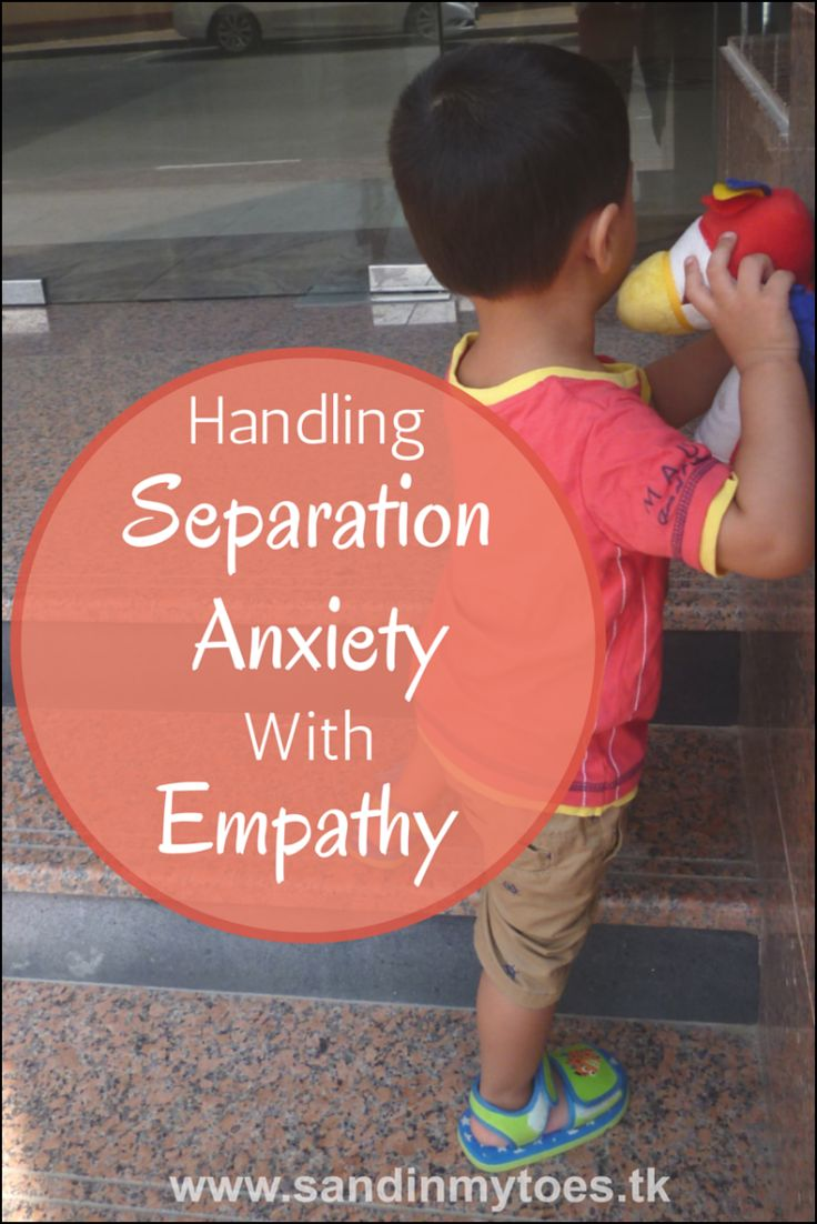 separation anxiety in toddlers pdf