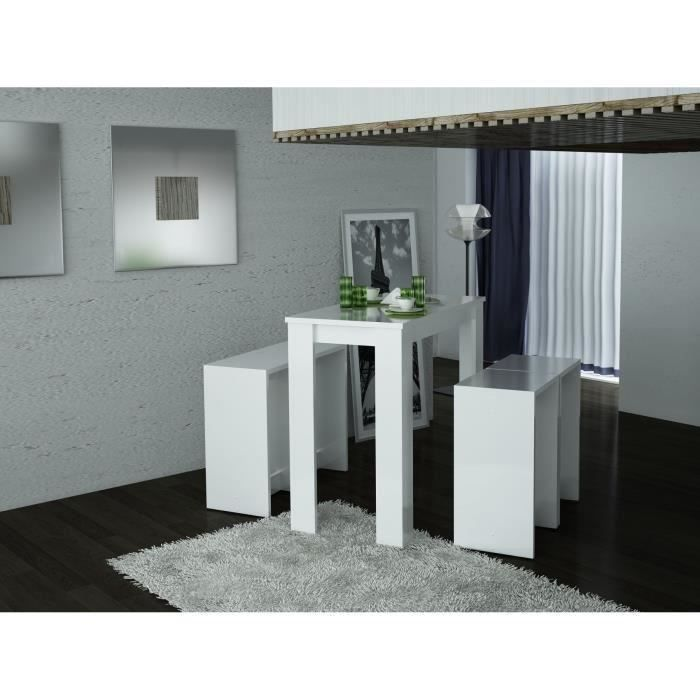william table bar blanc salon salle manger bon. Black Bedroom Furniture Sets. Home Design Ideas
