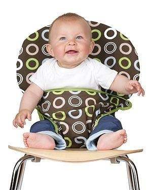 Totseat- The Totseat chair harness is your perfect out-and-about companion. It converts any dining chair into a baby seat, and is machine washable!