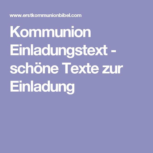 Kommunion Einladungstext - schöne Texte zur Einladung