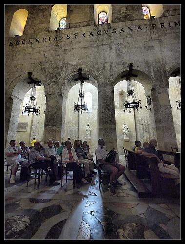 Inside Ortigia Cathedral