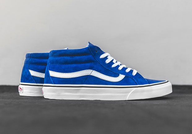 The Vans SK8-Mid Drops the Top On the Iconic Sk8-Hi In Two Clean ...