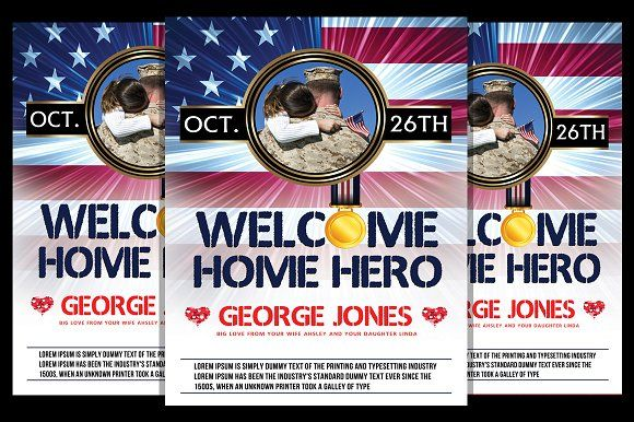 Welcome Home Party by Royalflush on @creativemarket