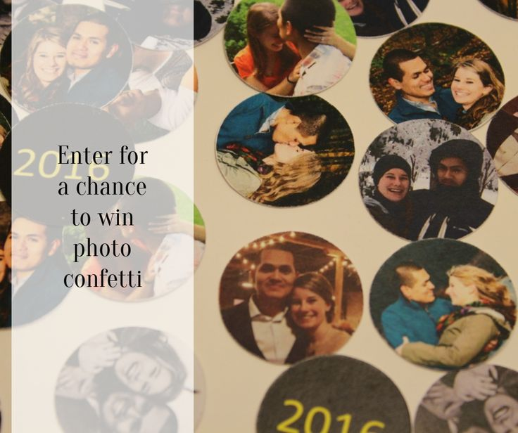 Enter for a chance to win 500 free photo confetti