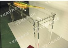 Free Shipping  Rectangular lucite console table with square tapered acrylic legs(China (Mainland))