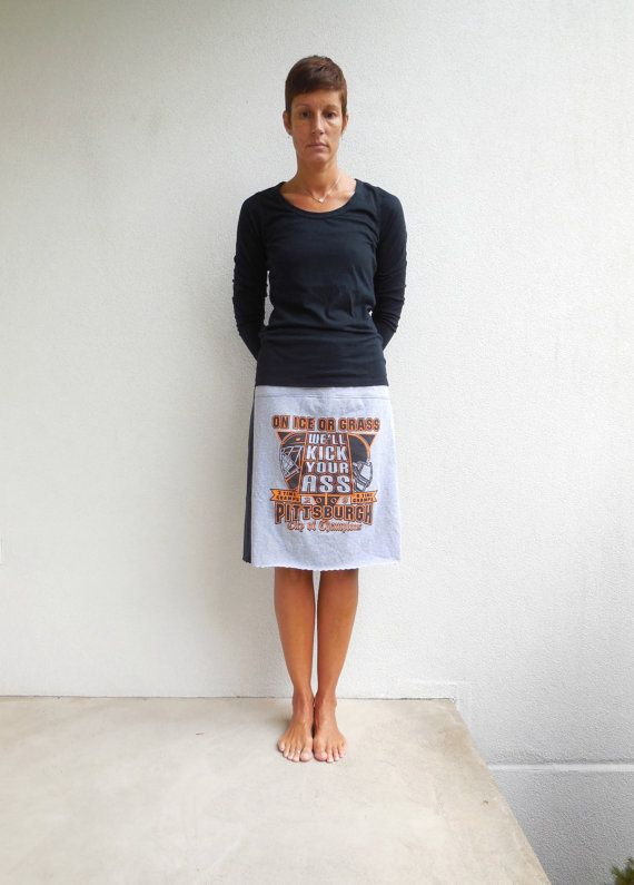 Pittsburgh Steelers / Pittsburgh Penguins T-Shirt Skirt by ohzie