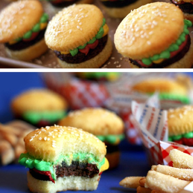 ... cupcakes burger cupcakes mini burger cupcakes burger cupcakes