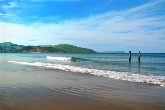 Akitio beach - ideal for swimming