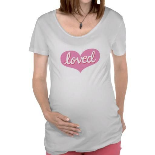Maternity T-shirt Pink heart design Available in a range of designs
