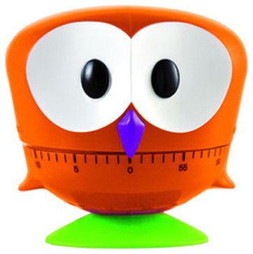 Timer Owl, Orange eclectic-timers-thermometers-and-scales