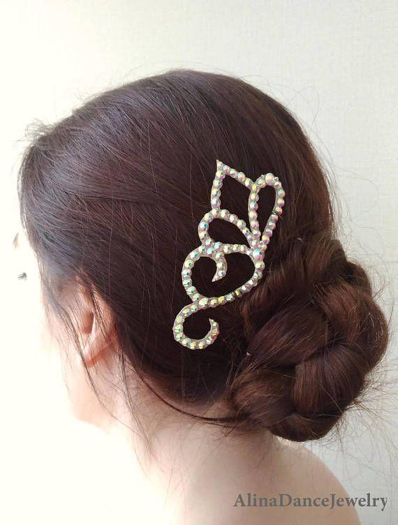 ballroom dance hairpiece Ballroom jewelry dance competition accessory ballroom latin dance headpiece hair accessory ballroom hairstyle